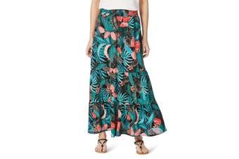 Women's Rockmans Hawaii Maxi Print Skirt | Bottoms Skirts