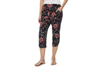 Women's Rockmans Crop Floral Spot Curve Hem Pant | Bottoms Pants