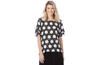 Women's Rockmans Elbow Layered Sleeve Print Top   Tops