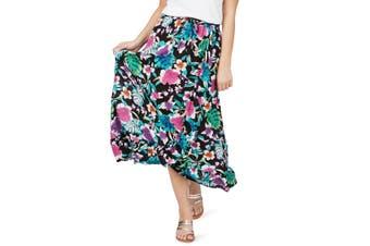 Women's Rockmans Bright Tropical Print Maxi Skirt | Bottoms Skirts