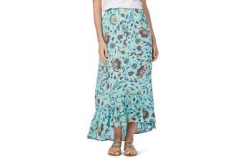 Women's Rockmans Mint Floral Maxi Skirt | Bottoms Skirts