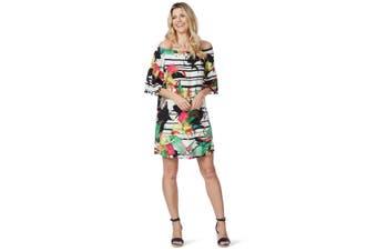 Women's Rockmans Elbow Sleeve Off Shoulder Boho Dress   Dresses