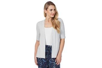 Women's Rockmans Elbow Sleeve Lattice Cuff Cardi   Cardigans Knitwear