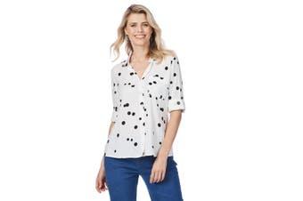 Women's Rockmans Long Sleeve Polka Dot Shirt   Blouses Shirts Tops