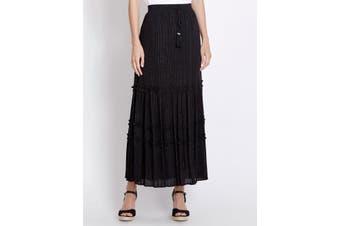 Women's Rockmans Lurex Stripe Skirt | Bottoms Skirts