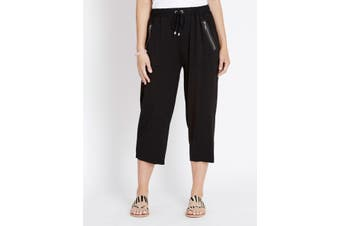 Women's Rockmans Crop Zip Detail Pocket Pant | Bottoms Pants