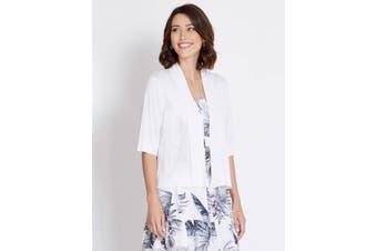 Women's Rockmans Elbow Sleeve Crop Cardi   Cardigans Knitwear
