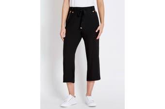 Women's Rockmans Crop Curved Hem Pant   Bottoms Pants