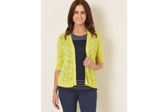 Women's Millers Elbow Sleeve Zigzag Pointelle Cardigan | Cardigans Knitwear