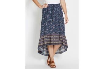 Womens Rivers Hi Lo Border Skirt | Bottoms Skirts