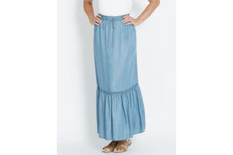 Womens Rivers Tiered Lyocell Maxi Skirt | Bottoms Skirts