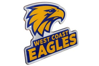 West Coast Eagles AFL Lensed Chrome Decal Badge - Cars, Bikes, Laptops, Most Things