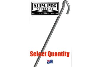Tent Pegs SUPA PEG Gal Galvanized Hi Tensile Key Head 8mm x 300mm