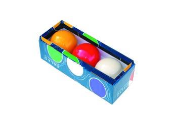 Billiard Tri Colour Table Balls Set - White, Red, Yellow - 2 & 1/16 inch Billiards