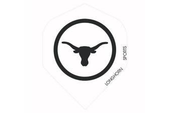 Formula Longhorn Standard Dart Board Darts Flights - WHITE