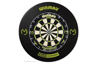 Winmau MvG Diamond Dart Board and Surround Michael Van Gerwen