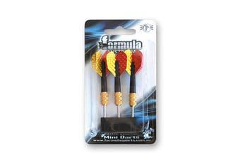 Formula Mini Dart Set of 3 Darts Yellow & Red Flights Short Shafts
