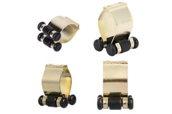 Pool Snooker Billiard Table Cue Rack Parts Brass Cue Clips Set of 4