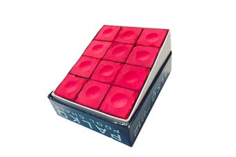 Box of Palko Pool Snooker Billiard Table Cue Chalk Red