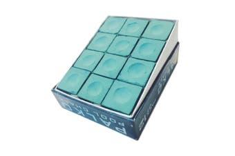 Box of Palko Pool Snooker Billiard Table Cue Chalk Green