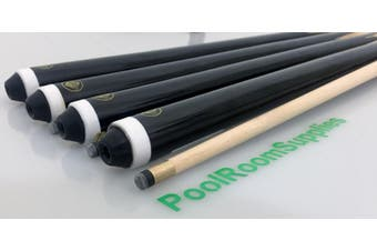 "4x 2-Piece Eco Pool Billiard Snooker Cue 57"" Cues 10mm Screw Tip"