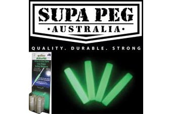 SUPA PEG Glow In the Dark Guy Rope Safety Markers For Camping Tents Pack of 6