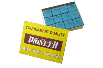 Box of Pioneer Pool Snooker Billiard Table Cue Chalk Blue