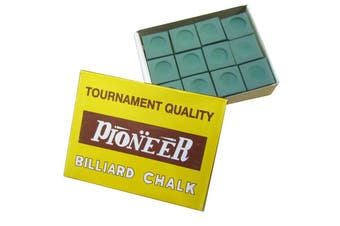 Box of Pioneer Pool Snooker Billiard Table Cue Chalk Green