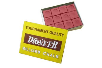 Box of Pioneer Pool Snooker Billiard Table Cue Chalk Red