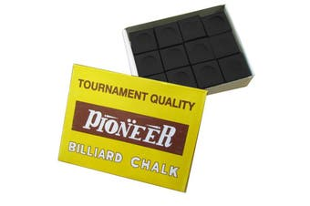 Box of Pioneer Pool Snooker Billiard Table Cue Chalk Black