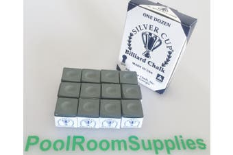Quality USA Silver Cup Pool Snooker Billiard Cue Tip Table Chalk Olive