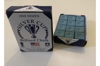 Quality USA Silver Cup Pool Snooker Billiard Cue Tip Table Chalk POWDER BLUE