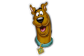 Happy Scooby-Doo Premium Domed Logo Automotive Decal Sticker Badge Emblem