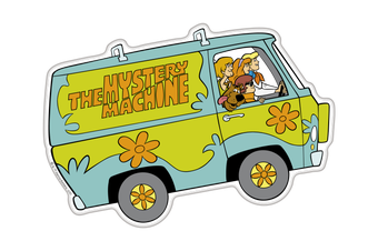 Scooby-Doo Mystery Machine Premium Character Domed Logo Automotive Sticker Emblem