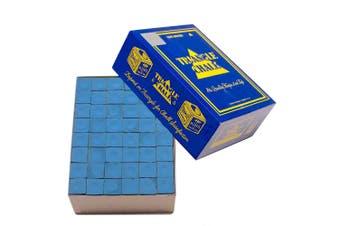 Quality TRIANGLE BULK Pool Snooker Billiard Table Cue Chalk Blue 144 Cubes