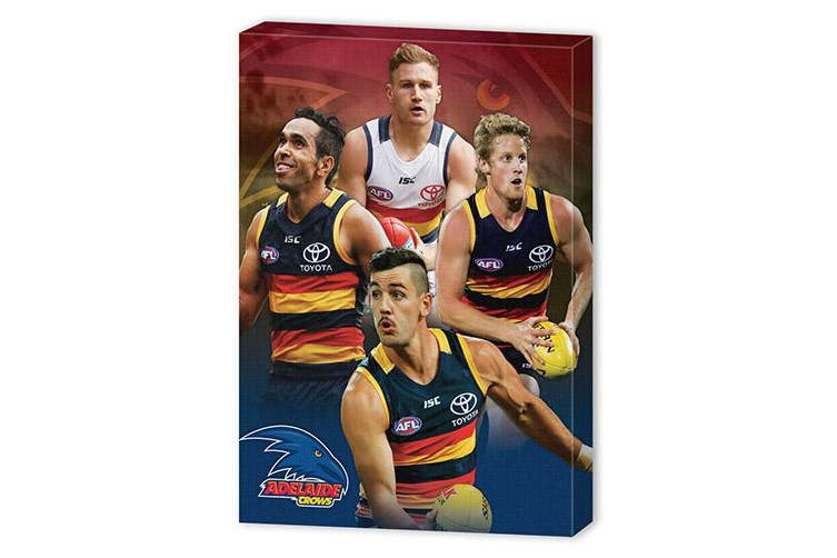 Dick Smith Adelaide Crows Afl Eddie Betts Taylor Walker Rory Sloane Josh Jenkins Wall Canvas Sign Sports Collectables