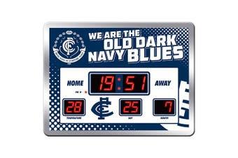 Carlton Blues AFL Aussie Rules SCOREBOARD LED Clock