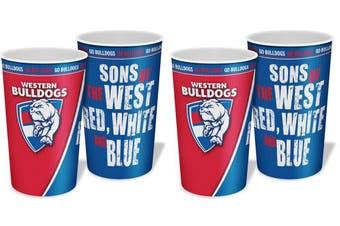 Western Bulldogs AFL Lenticular Tumbler Cups 4 Pack