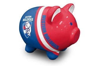 Western Bulldogs AFL Dolomite Piggy Bank Money Box with Coin Slot