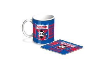 Melbourne Demons AFL Coffee Mug & Coaster GIFT PACK