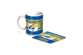 West Coast Eagles AFL Coffee Mug & Coaster GIFT PACK