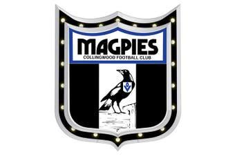 Collingwood Magpies AFL Light Up Bar Sign Plaque Shield