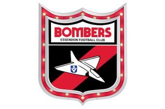 Essendon Bombers AFL Light Up Bar Sign Plaque Shield