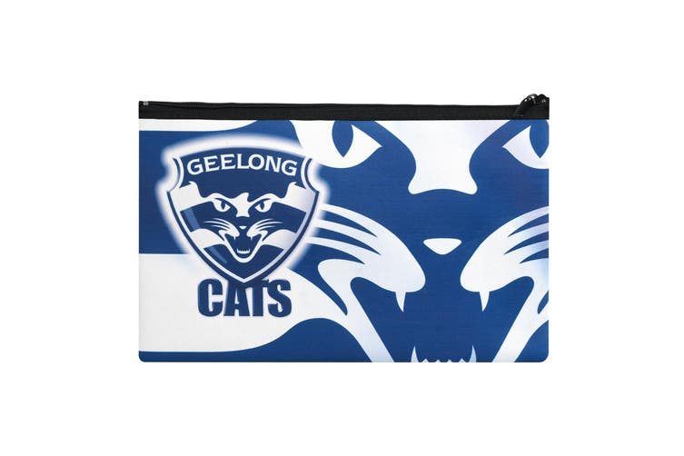 Afl Geelong Cats Quality Large Pencil Case For School Work Stationary Kogan Com