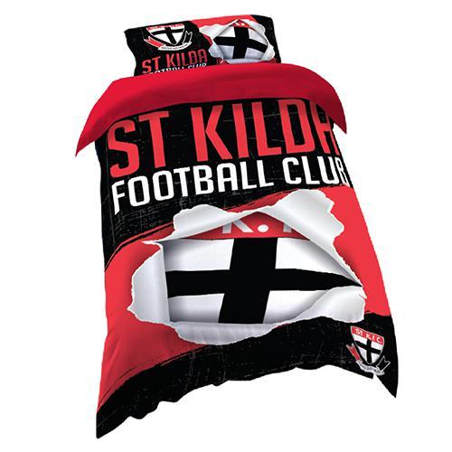 St Kilda Saints Quilt Cover