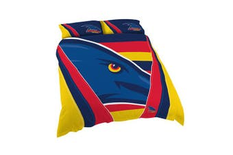 Adelaide Crows AFL DOUBLE Bed Quilt Doona Duvet Cover and Pillow Cases Set