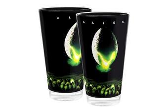 Fox Classics Movie ALIEN BLACK Design Drink Tumblers Set of 2