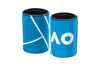 Australian Open Tennis LOGO & COURT Neoprene Can Cooler Stubby Holder