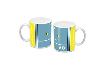 Australian Open Tennis Ceramic Coffee Mug Cup Yellow Towel Design