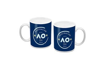 Australian Open Tennis Ceramic Coffee Mug Cup Round logo Design